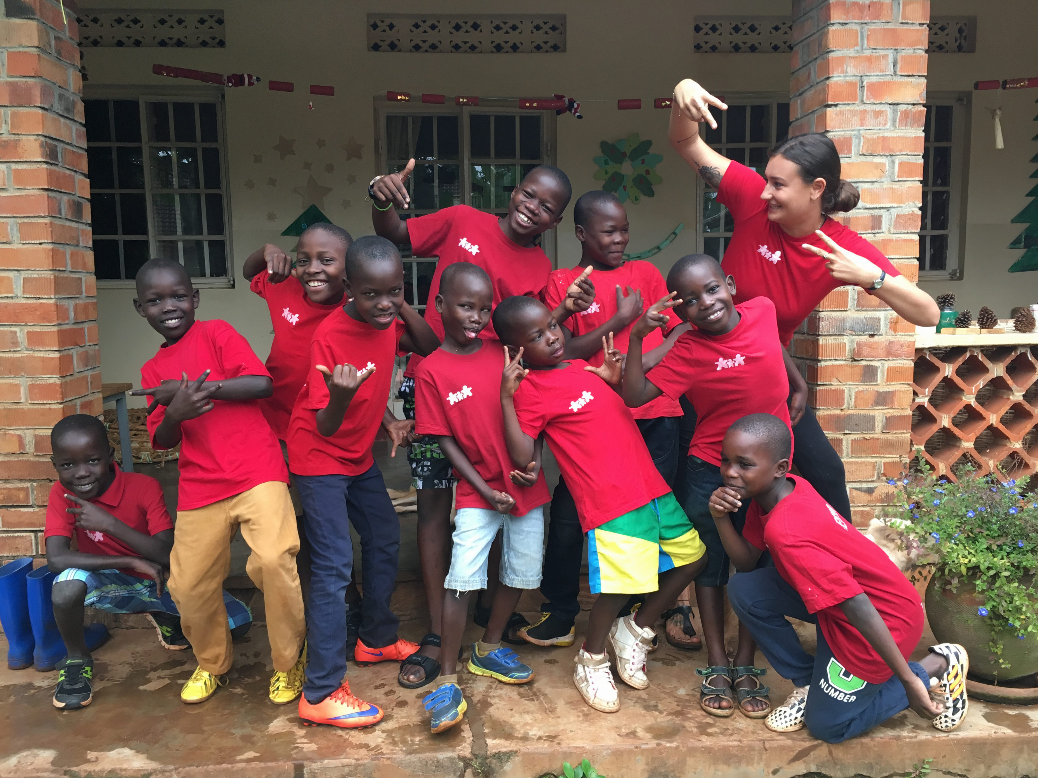 Weihnachtsfeier mit den Yamba-Jungen